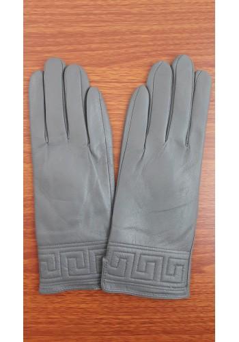 S 1485 - Дамски ръкавици от естествена кожа в тъмно сиво