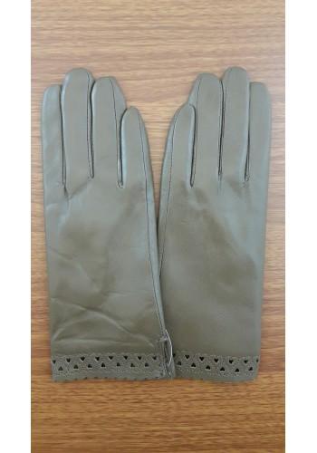 S 1568 - Дамски ръкавици от естествена кожа в кафяво
