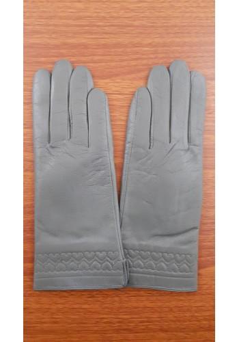 S 1567 - Дамски ръкавици от естествена кожа в тъмно сиво
