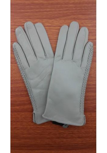 S 042 - Дамски ръкавици от естествена кожа в светло сиво