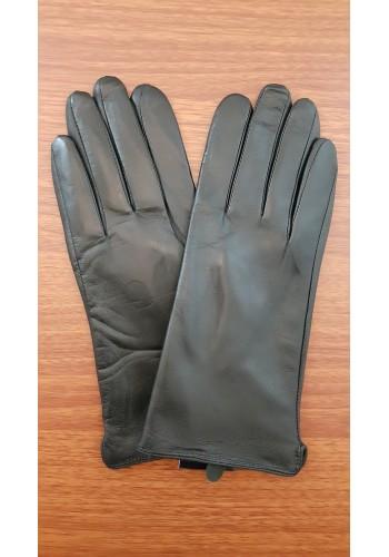 LUX 1671 - Дамски ръкавици от луксозна естествена кожа в черно