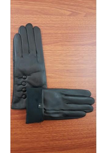 LUX 1673 - Дамски ръкавици от луксозна естествена кожа в черно