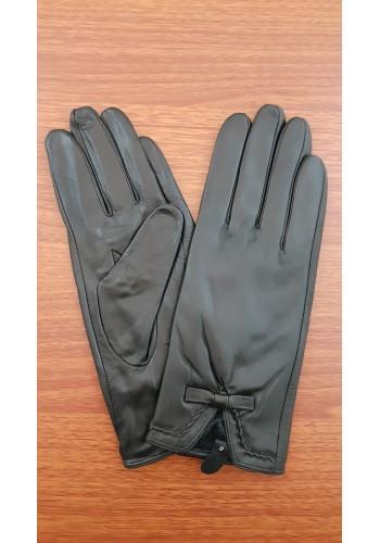 LUX 1676 - Дамски ръкавици от луксозна естествена кожа в черно