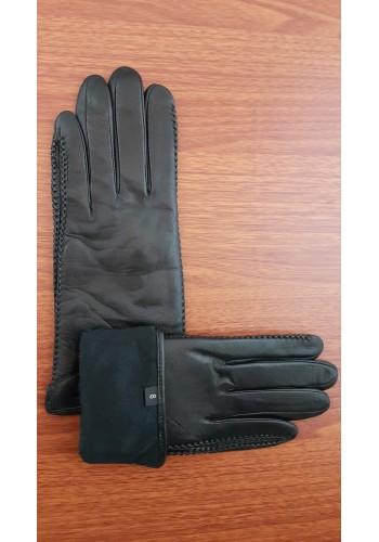 LUX 1678 - Дамски ръкавици от луксозна естествена кожа в черно