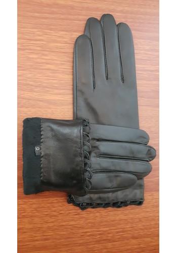 LUX 1679 - Дамски ръкавици от луксозна естествена кожа в черно