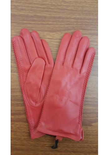 LUX 042 - Дамски ръкавици от луксозна естествена кожа в червено