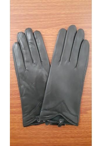 LUX 1680 - Дамски ръкавици от луксозна естествена кожа в черно