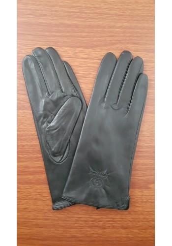 LUX 1681 - Дамски ръкавици от луксозна естествена кожа в черно