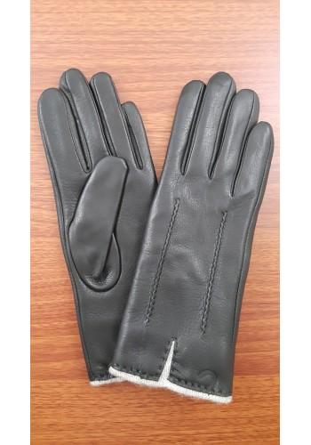 ЕЛЕН 1 - Дамски ръкавици от луксозна ЕЛЕНСКА кожа в черно