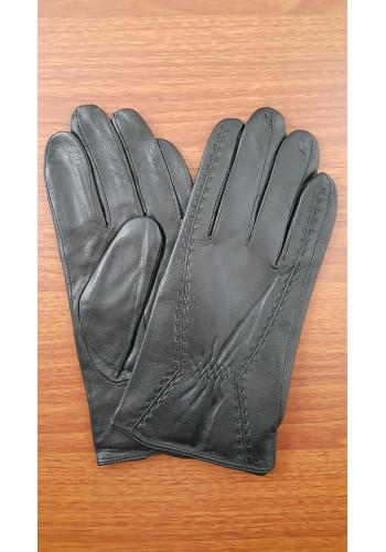 S 133  Мъжки ръкавици от естествена кожа подплатени с плюш в черно