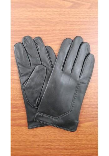SM 120  Мъжки ръкавици от естествена кожа подплатени с плюш в черно
