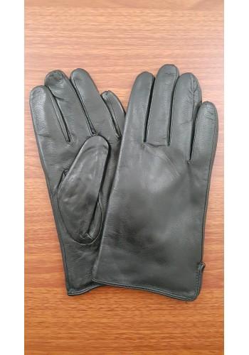S 215  Мъжки изчистени ръкавици от много издръжлива естествена кожа в черно