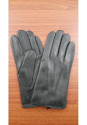 S 221  Мъжки ръкавици от много издръжлива естествена кожа в черно