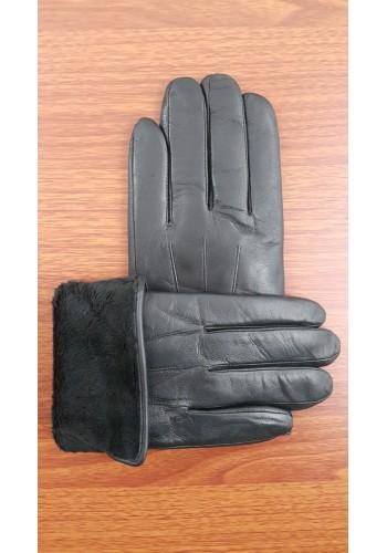 S 202  Мъжки ръкавици от много издръжлива естествена кожа в черно