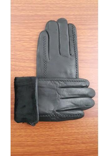 S 216  Мъжки ръкавици от много издръжлива естествена кожа в черно