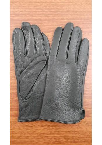 SL 061  Мъжки изчистени ръкавици от дебела агнешка кожа в черно