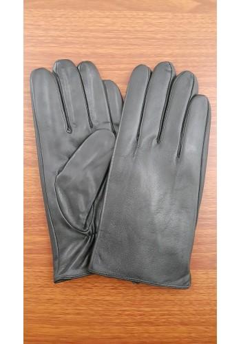 L 215  Мъжки изчистени ръкавици от много фина, луксозна естествена кожа в черно
