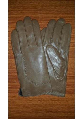 S 205  Мъжки ръкавици от естествена кожа подплатени с плюш в кафяво