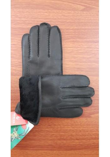 ЕЛЕН 110 - Мъжки ръкавици от луксозна ЕЛЕНСКА кожа в черно