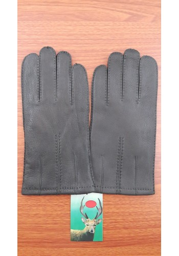 ЕЛЕН 160 - Мъжки ръкавици от луксозна ЕЛЕНСКА кожа в черно
