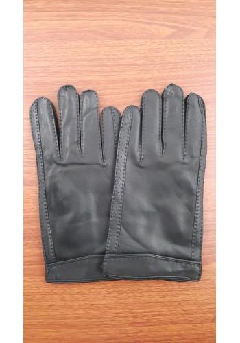 ЕЛЕН 122 - Мъжки ръкавици от луксозна ЕЛЕНСКА кожа в черно