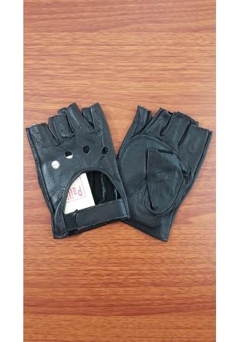 S 8152  Дамски шофьорски ръкавици от естествена ярешка кожа в черно