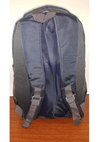 3723 Спортна текстилна раница с три прегради в тъмно синьо