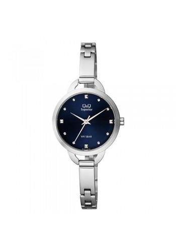 Дамски часовник Q&Q S327J202Y SUPERIOR с метална верижка