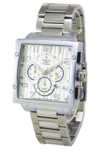 """T6006-1  Мъжки часовник """"VENICE"""" metal watches с метална - стоманена верижка"""