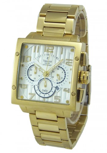 """T6006-2  Мъжки часовник """"VENICE"""" metal watches с метална - стоманена верижка"""