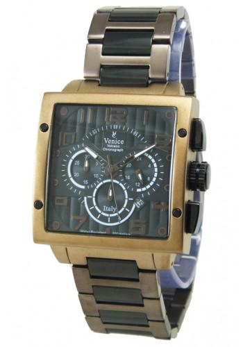 """T6006-3  Мъжки часовник """"VENICE"""" metal watches с метална - стоманена верижка"""
