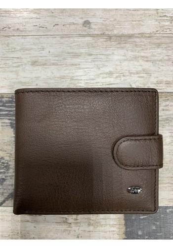 MS 27 Мъжки портфейл от естествена телешка кожа в кафяво