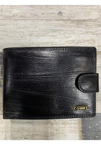A14-41  135 Мъжки портфейл COSSET от италианска естествена кожа в черно с много отделения - LUX