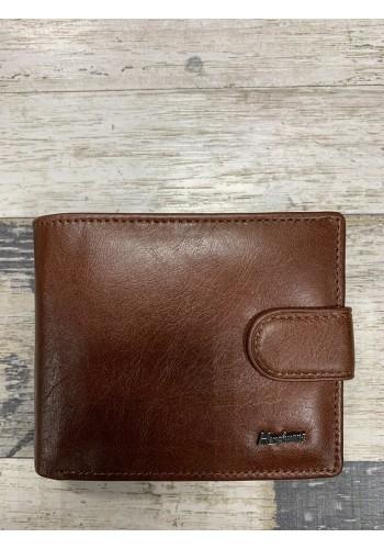MS 29 Мъжки портфейл от естествена телешка кожа в кафяво