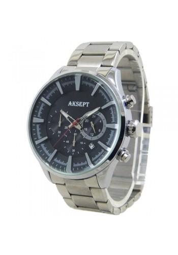 2135-1  Мъжки часовник  AKSEPT  с метална верижка