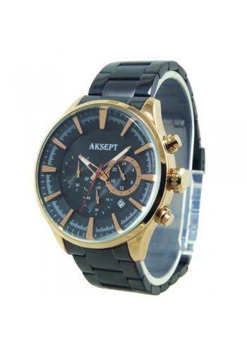 2135-2  Мъжки часовник  AKSEPT  с метална верижка
