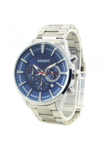 2135-3  Мъжки часовник  AKSEPT  с метална верижка