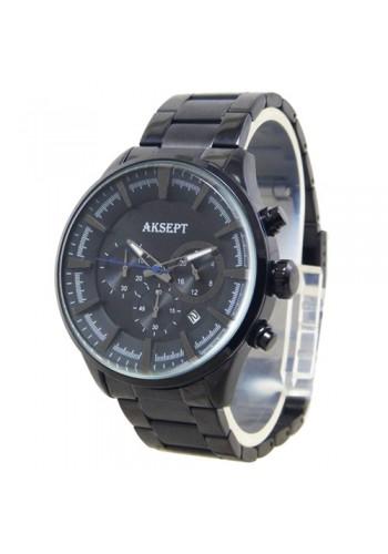 2135-4  Мъжки часовник  AKSEPT  с метална верижка
