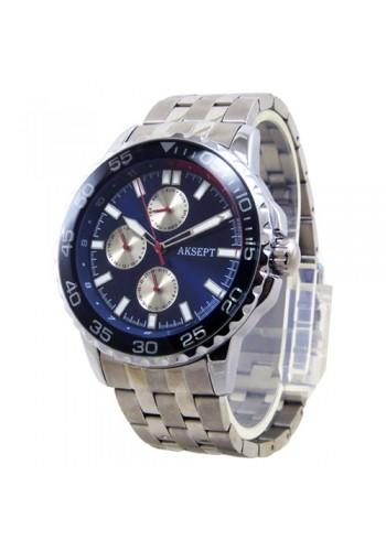 2142-1  Мъжки часовник  AKSEPT  с метална верижка