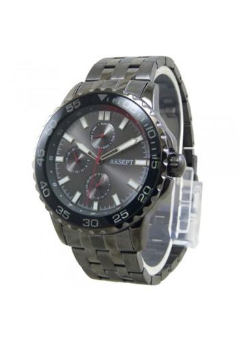 2142-2  Мъжки часовник  AKSEPT  с метална верижка