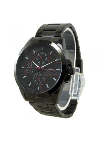 2143-1  Мъжки часовник  AKSEPT  с метална верижка