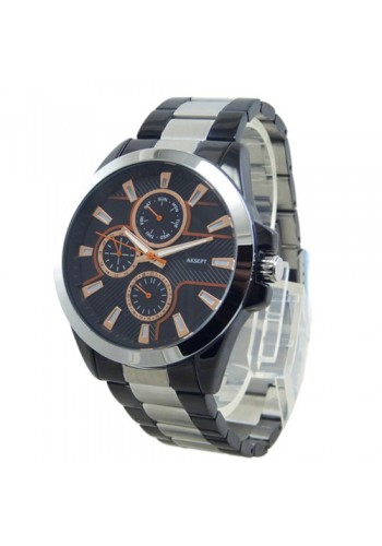2143-2  Мъжки часовник  AKSEPT  с метална верижка