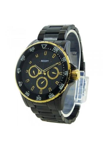 2144-2  Мъжки часовник  AKSEPT  с метална верижка