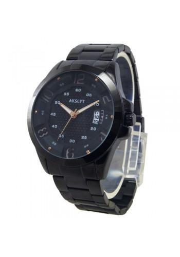 2162-1  Мъжки часовник  AKSEPT  с метална верижка