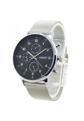 2137-1  Мъжки часовник  AKSEPT  с метална верижка