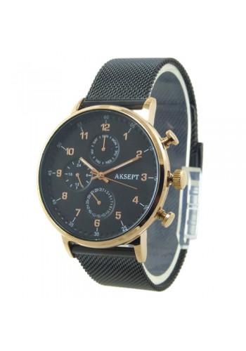 2137-2  Мъжки часовник  AKSEPT  с метална верижка