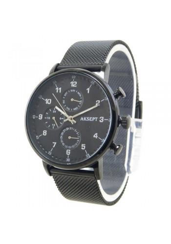 2137-3  Мъжки часовник  AKSEPT  с метална верижка