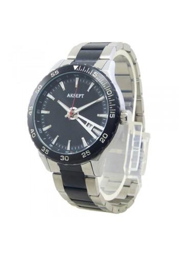 2161  Мъжки часовник  AKSEPT  с метална верижка