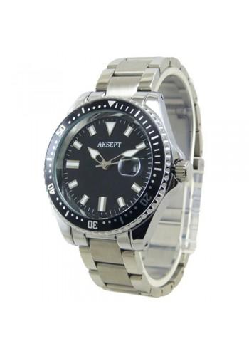 2165-1 Мъжки часовник  AKSEPT  с метална верижка