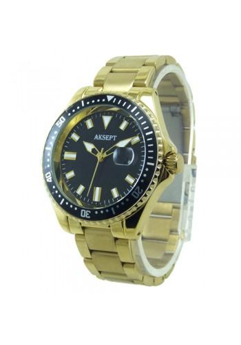 2165-2 Мъжки часовник  AKSEPT  с метална верижка